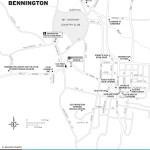 Map of Bennington, Vermont