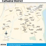 Travel map of Hanoi's Cathedral District in Vietnam