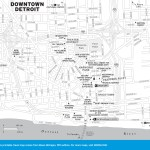 Travel map of Downtown Detroit, Michigan