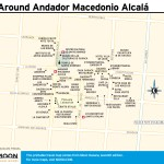 Travel map of Around Andador Macedonio Alcal
