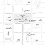 Travel map of Temple Square in Salt Lake City, Utah