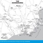 Travel map of The Kennebunks, Maine