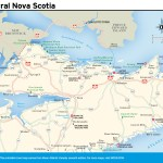 Travel map of Central Nova Scotia