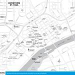 Travel map of Downtown St. Paul, Minnesota