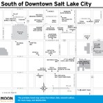 Travel map of the South of Downtown Salt Lake City