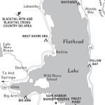 Travel map of Flathead Lake, Montana