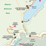 Travel map of West Glacier and Apgar Hikes