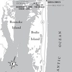 Map of Nags Head to Bodie Island, North Carolina