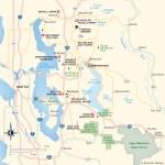 Travel map of Eastside Puget Sound, Washington