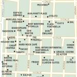 Travel map of Zona Viva, Guatemala City
