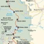 Travel map ofCentennial Trail
