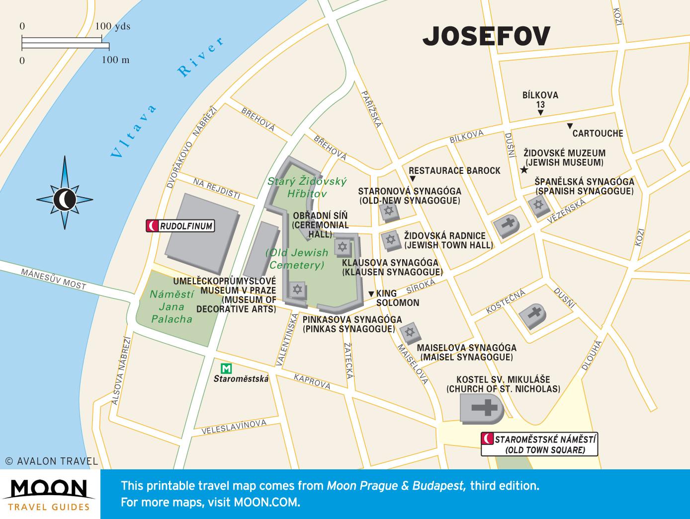 budapest jewish quarter map Prague Budapest Moon Travel Guides budapest jewish quarter map