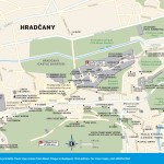 Travel map of Hradčany in Prague