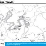 Travel map of Lake Travis, Texas