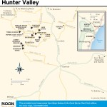Travel map of Hunter Valley, Australia
