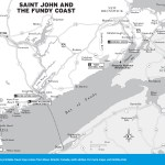 Travel map of Saint John and The Fundy Coast, New Brunswick