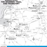 Maps of Bardstown, the Bourbon Trail, and Frankfort, Kentucky