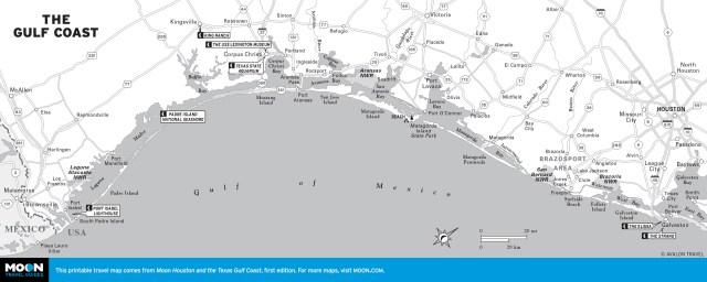 Map of The Gulf Coast