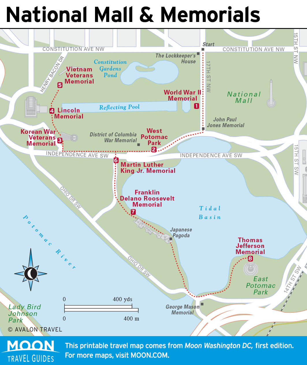 Walking DC: The National Mall & Memorials | Moon Travel Guides on