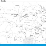 Travel map of The Hill Country, Texas