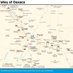 Travel map of The Valley of Oaxaca