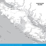 Map of Vancouver Island, BC