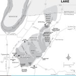 Map of Reel Foot Lake, TN