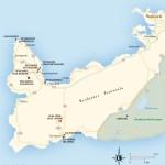 Travel map of Reykjanes Peninsula