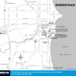 Map of Sheboygan, Wisconsin