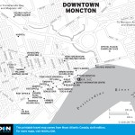 Travel map of Downtown Moncton, New Brunswick