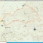 Trail map of Fairyland Loop Trail in Utah