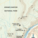Travel map of Toroweap in the Grand Canyon