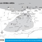 Map of La Ceiba Area in Honduras