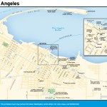 Travel map of Port Angeles.