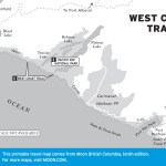 Map of the West Coast Trail, BC