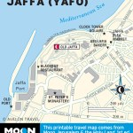 Map of Jaffa (Yafo), Israel