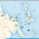 Travel map of The Whitsunday Islands and Airlie Beach, Australia