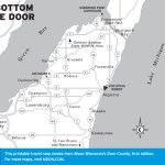 Map of The Bottom of the Door, Wisconsin
