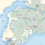 Travel map of the Kenai Peninsula