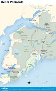 travel map of Kenai peninsula