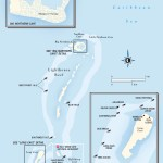 Map of Lighthouse Reef, Belize