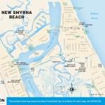 Travel map of New Smyrna Beach, Florida