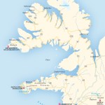 Travel map of Snæfellsnes Peninsula and the Westfjords