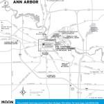 Travel map of Ann Arbor, Michigan.