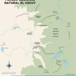 Travel map of Parque Nacional Natural El Cocuy in Colombia