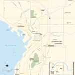 Travel map of Bellingham, Washington