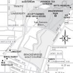 Travel map of Brackenridge Park, San Antonio, Texas