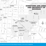 Travel map of Downtown Ann Arbor and University of Michigan