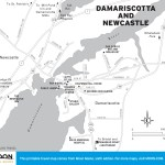 Travel map of Damariscotta and Newcastle, Maine