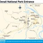 Travel map of Denali National Park Entrance